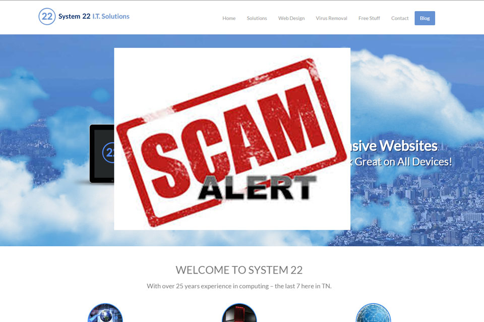 Website Payment Credit Card Scam