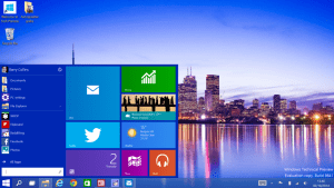 picture of windows 10 desktop layout