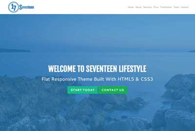 Seventeen New Responsive Website Template