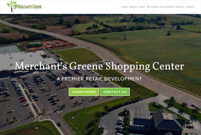 New Responsive Website – Merchant's Greene Shopping Center