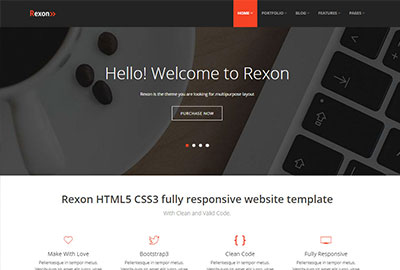 Rexon website design template