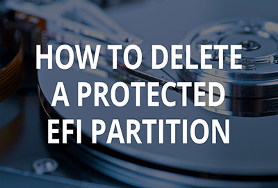 How to delete a protected EFI disk partition