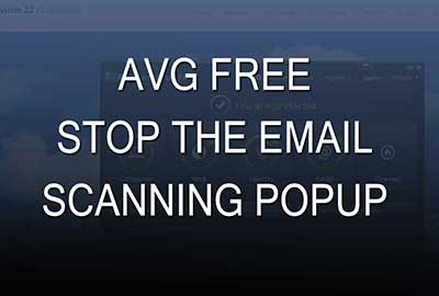 AVG Free- Stop the scanning popup