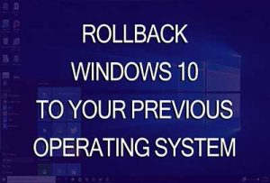 rollback Windows 10