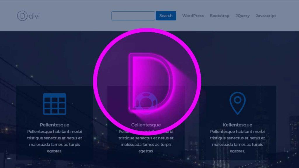 add a search box to Divi menu