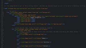 Bootstrap website build