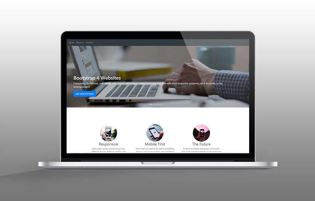 Bootstrap 4 – Build and Upload a Landing Page in Just 45 Minutes