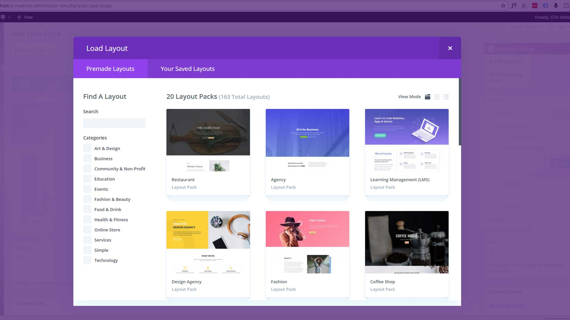 Divi Builder New Layouts with the Divi 3 WordPress theme