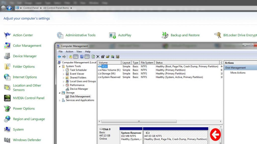 initialize and format a new hard drive
