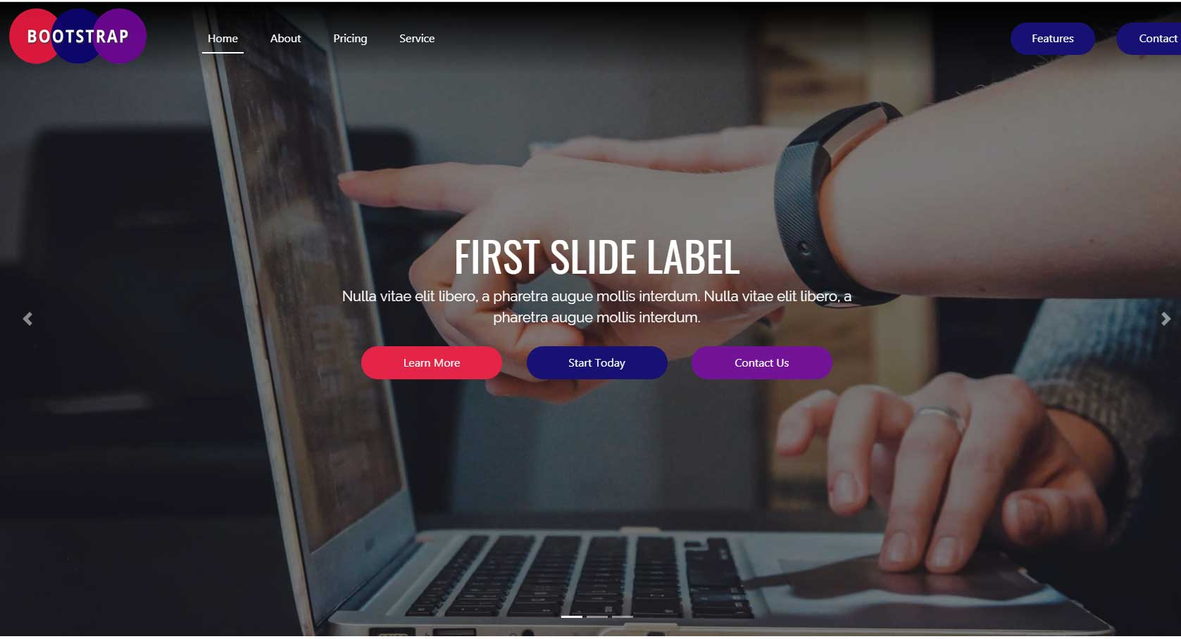 Complete Bootstrap 4 Multi Page Website Build