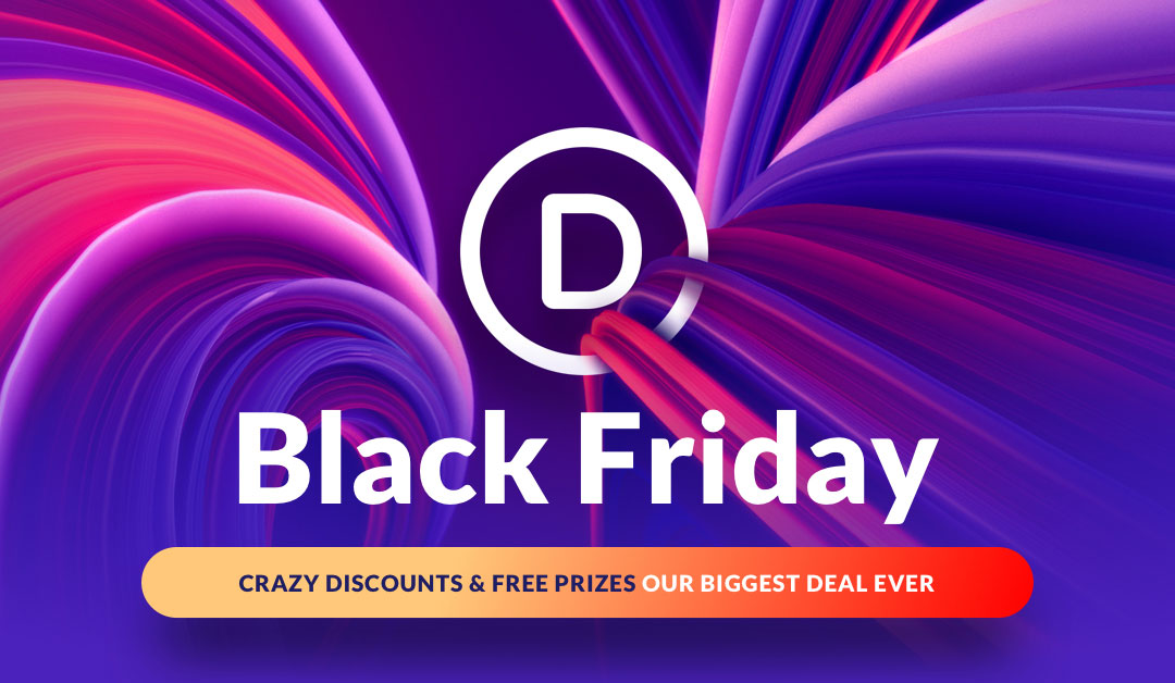 Divi Theme Black Friday Huge Sale And Prizes