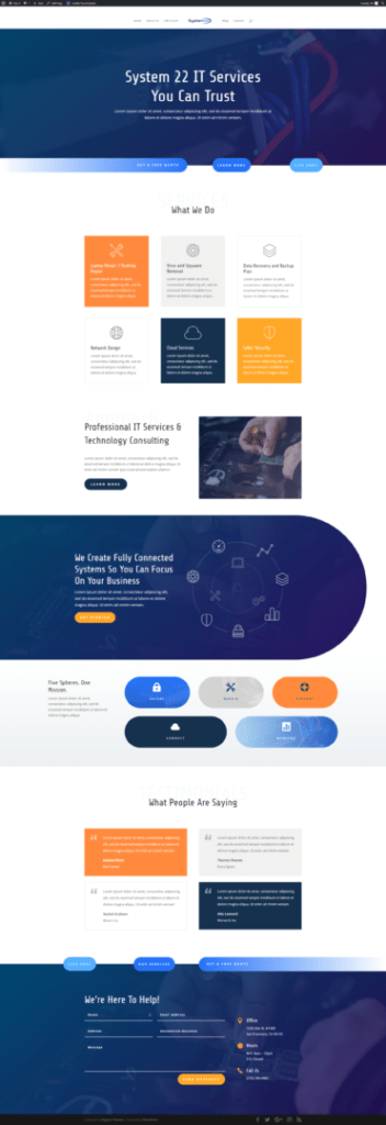 One Page Scrolling Site