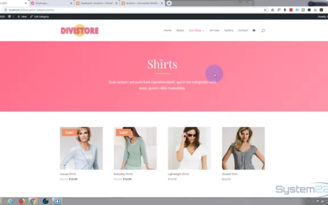 Build an ecommerce store in one hour with the Divi theme