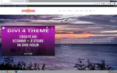 Full Width Slider With YouTube Video Background Using The Divi Theme