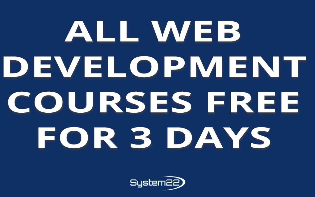 Web Development Courses Free For 3 Days