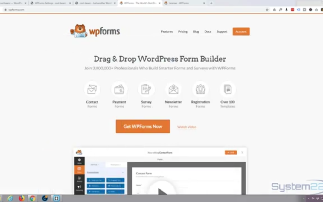 Create and send your first Contact form with WPForms