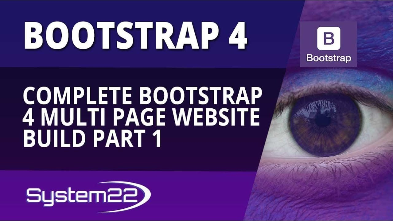 Bootstrap 4 Complete Multi Page Website Build Part 1