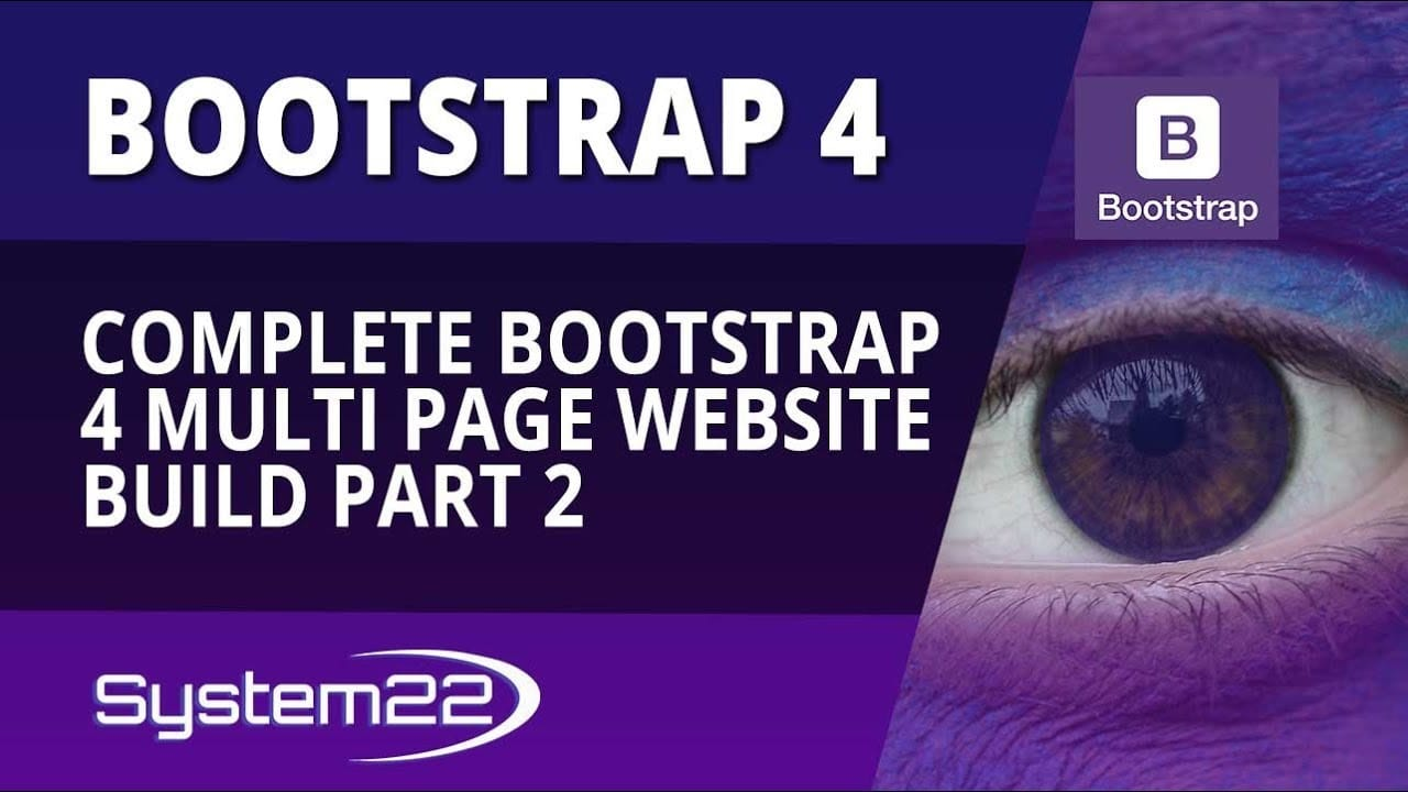 Bootstrap 4 Complete Multi Page Website Build Part 2