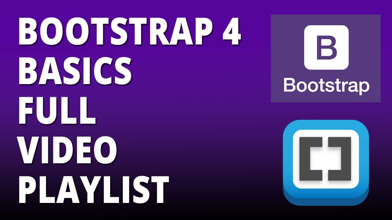bootstrap 4 full video playlist