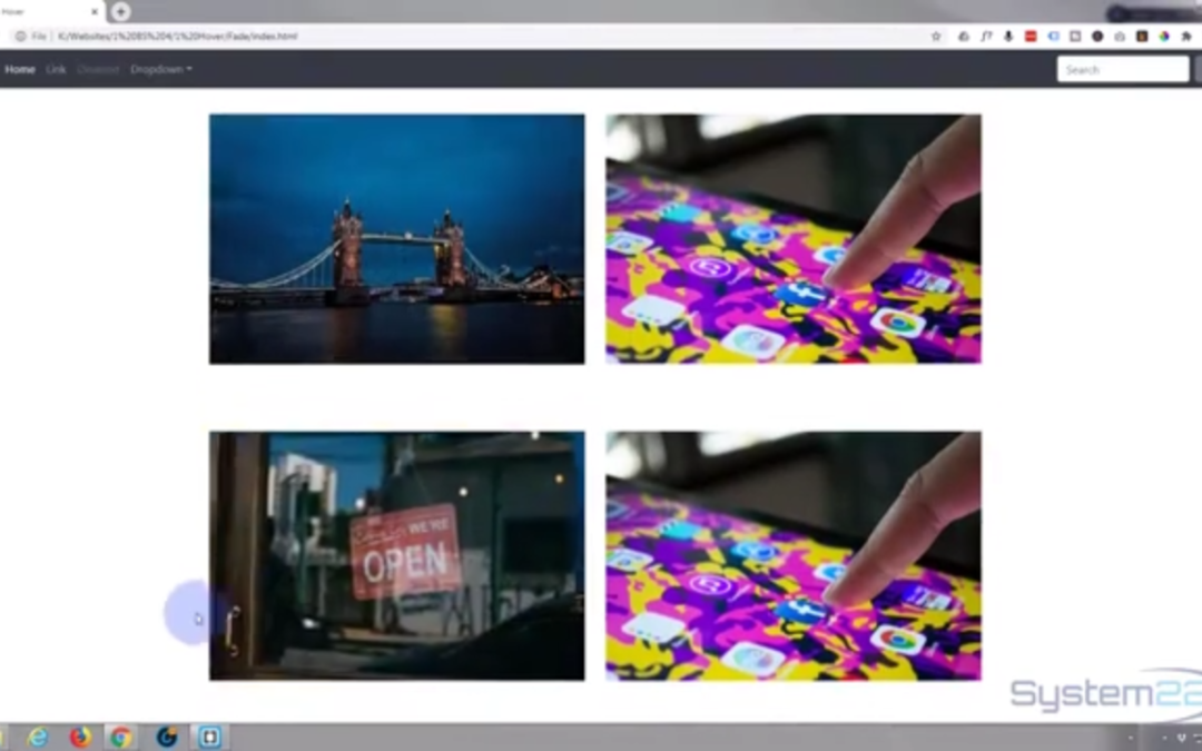 Bootstrap 4 Hover Effects Image Swap Spin In Effect