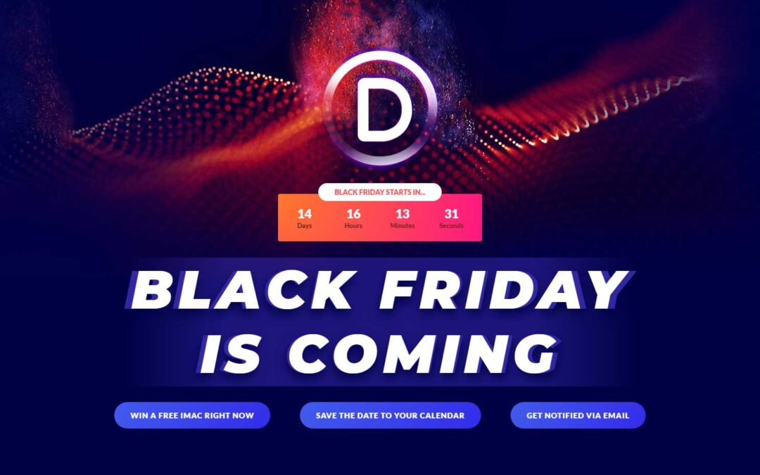 Divi Theme Black Friday Give Away 2020