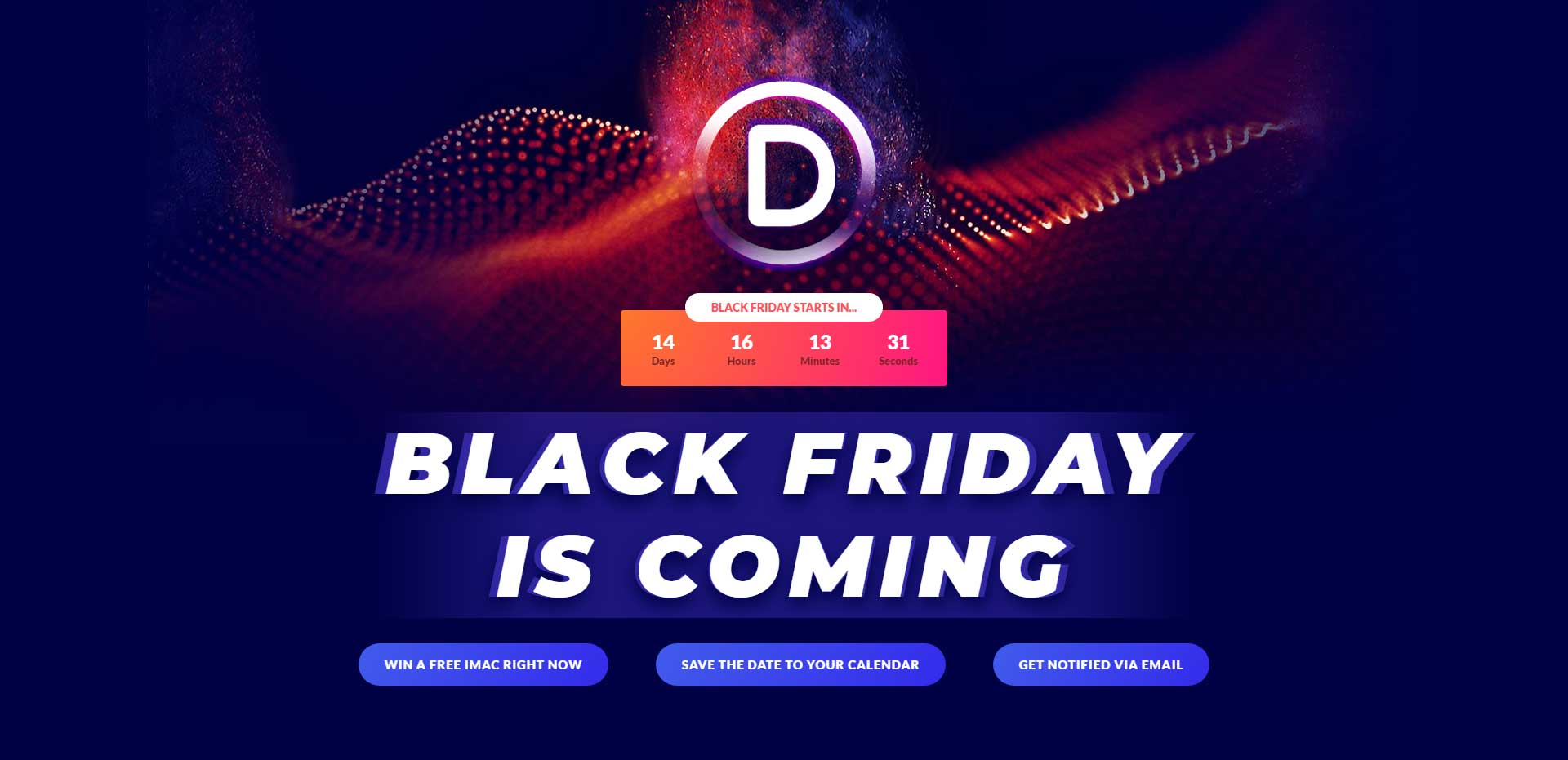 Divi Theme Black Friday Give Away