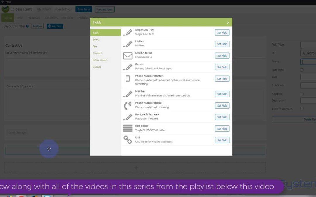 Formulaire de contact Divi Theme avec bouton pour télécharger des fichiers à l'aide des formulaires Caldera