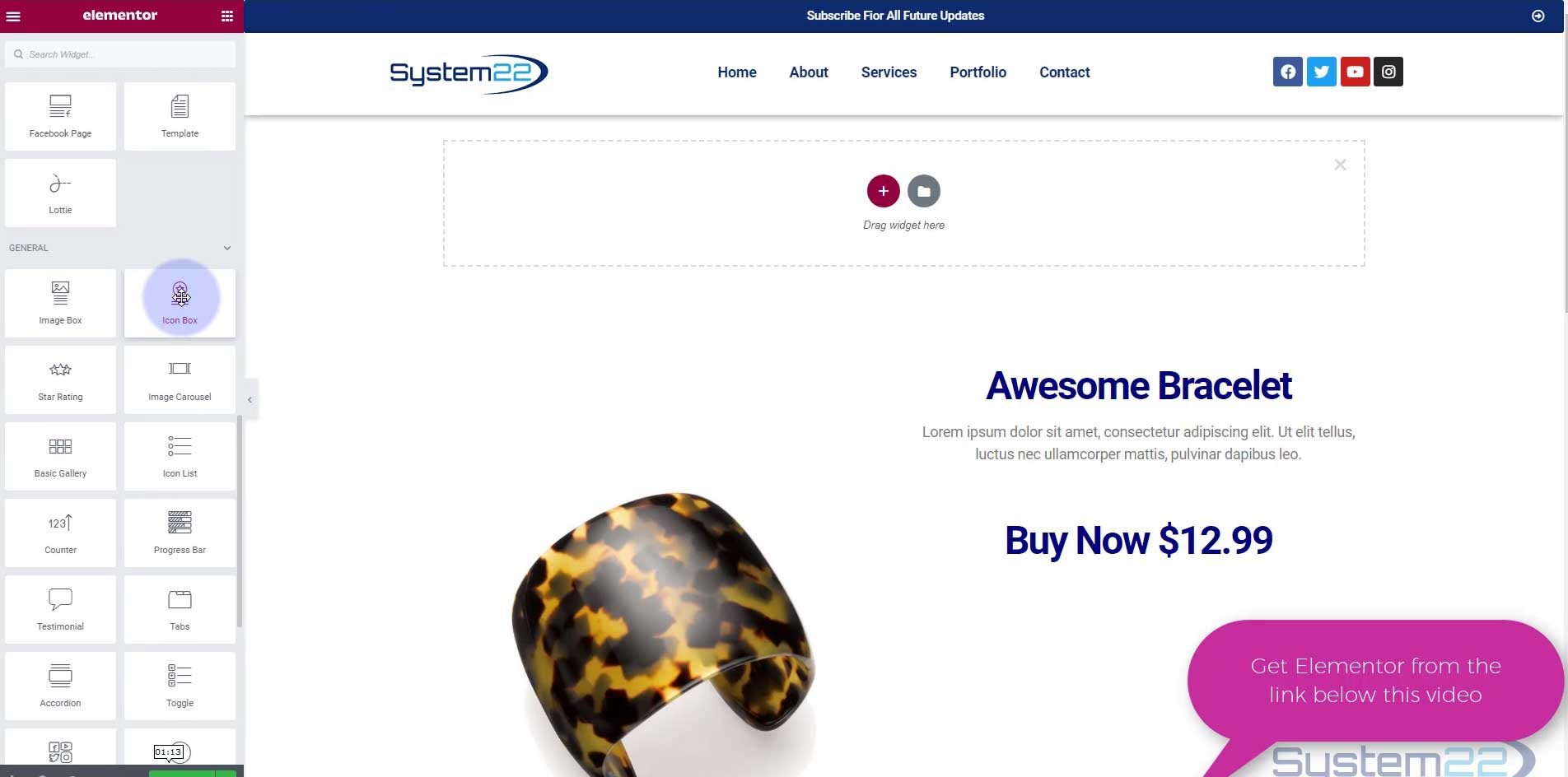 Create A Frosted Glass Background Effect With Elementor Page Builder