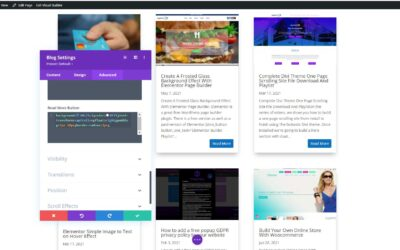 Divi Theme Customize Your Blog Read More Button With CSS